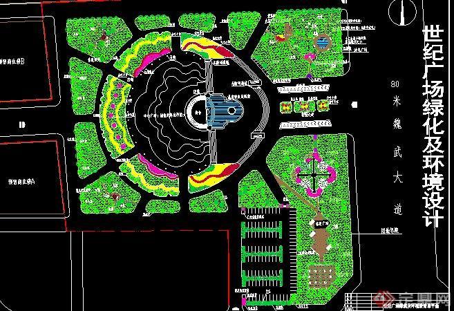 某休闲广场景观规划设计cad总平面图[原创]