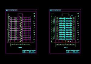 现代风格11层框剪豪华公寓毕业设计cad施工(含计算书、结构图)