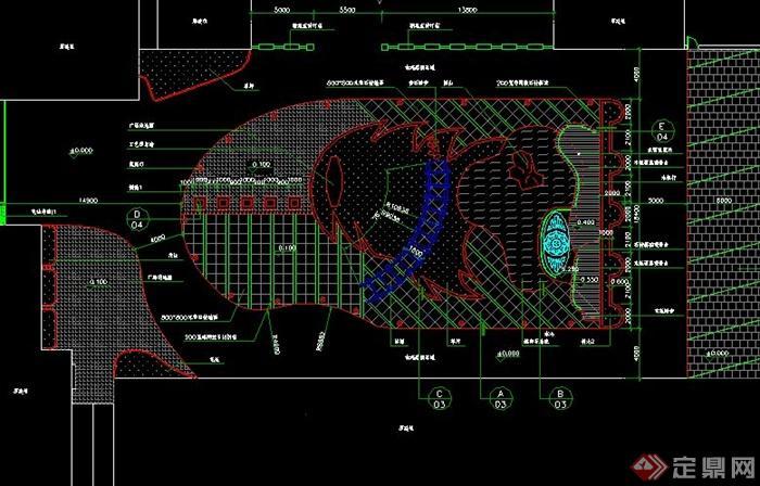 现代广场景观规划cad平面图设计[原创]