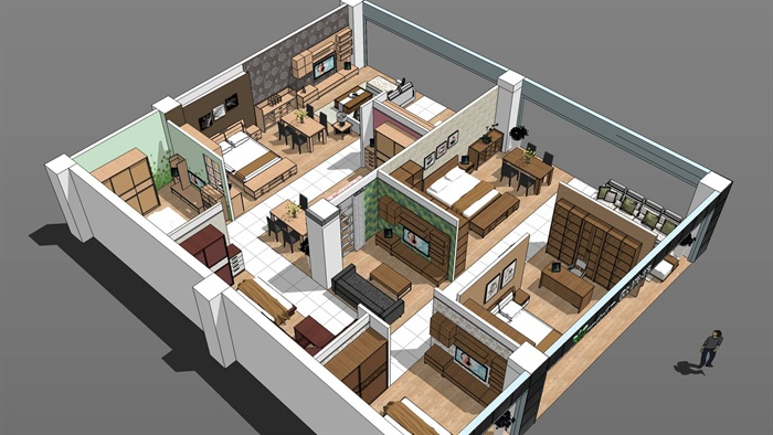某现代风格家具展厅设计含CAD施工图、SU模型、效果图,附件包含了CAD施工图、SU模型、效果图,模型有材质贴图,制作详细完整,可直接下载用于相关设计使用,具有一定的使用价值,欢迎下载。