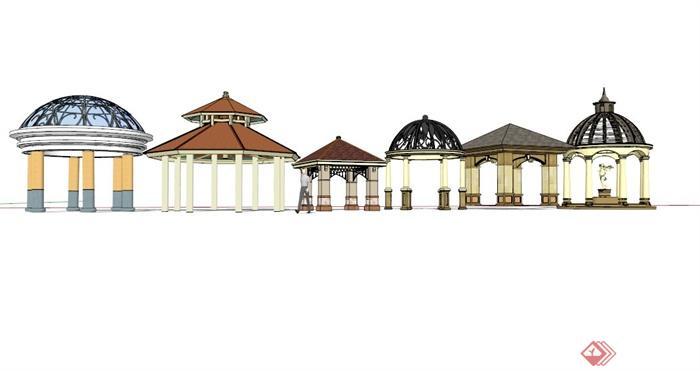 6个欧式亭子设计su模型[原创]
