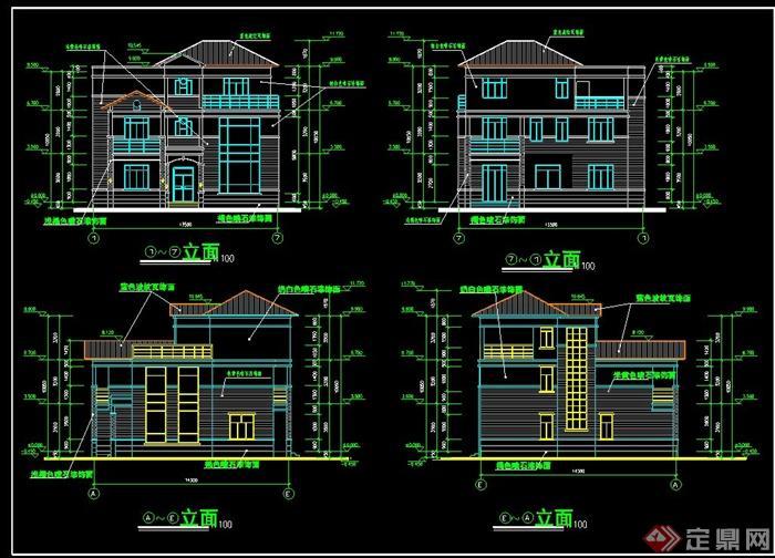 欧式风格别墅建筑设计cad施工图和效果图