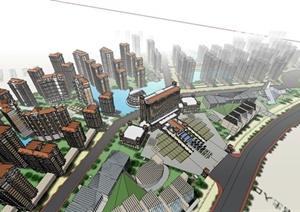 住宅小区建筑群设计SU(草图大师)模型