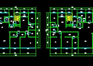 大平层户型设计CAD平面图方案
