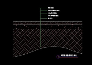 人行道路节点CAD施工图