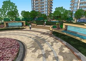 小区景观设计SketchUp模型素材