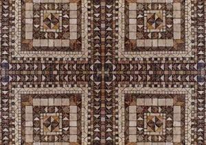 某现代风格广场砖与拼花贴图