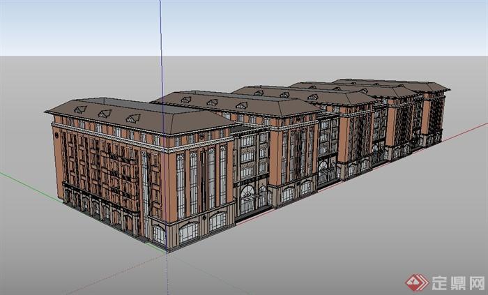 某欧式风格学校校园建筑su模型(1)