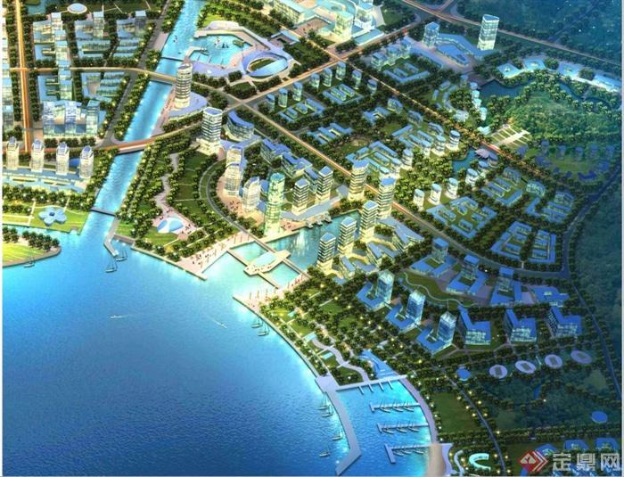 某市开发区滨海城市概念性规划设计pdf格式文本[原创]