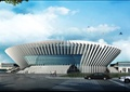 某市体育馆活动中心建筑方案设计(cad平立剖、效果图)