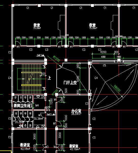 框架结构四层教学楼全套毕业设计(含建筑结构图、任务书、开题报告、计算书、电算书、实习报告)-4019平28张CAD图 中学教学楼的设计.在设计中,认真贯彻了适用、安全、经济、美观的设计原则,进一步掌握了建筑与结构设计全过程、基本方法和步骤。 本设计主要包括建筑设计和结构设计两部分。建筑设计,包括平面定位图设计、平面设计、立面设计、剖面设计。结构设计,框架结构设计主要包括:结构选型,梁、柱、墙等构件尺寸的确定,重力荷载计算、横向水平作用下框架结构的内力和侧移计算、纵向地震作用计算、水平地震作用下横向框架内