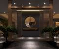 茶室,茶馆,隔断门,盆栽