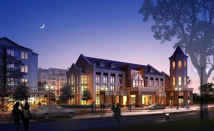 某公建会所活动中心社区服务中心建筑方案设计(含效果