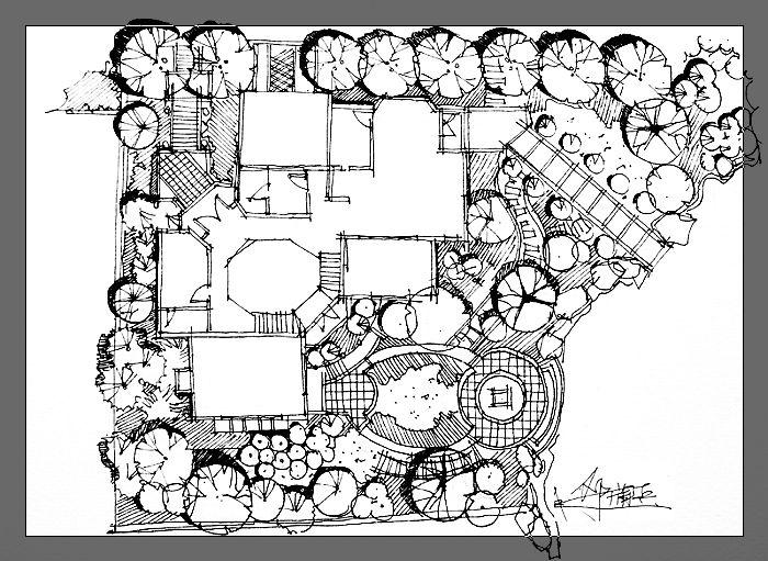 园林手绘效果图,立面图,鸟瞰图,局部小品图集