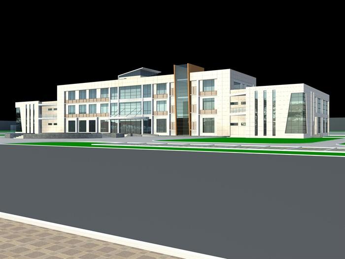 某厂区小型办公楼建筑方案设计(含su,cad,max)[原创]