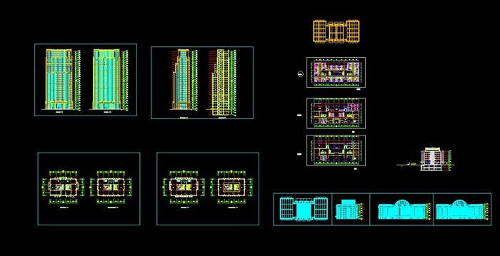 某高层欧式新古典办公楼、酒店建筑方案设计(cad、skp、效果图)(7)