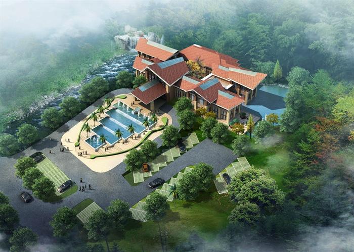 某东南亚风格酒店会所建筑施工图,室内cad施工图设计