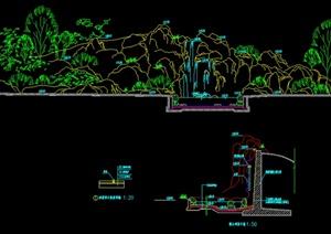 某园林景观假山设计cad施工图