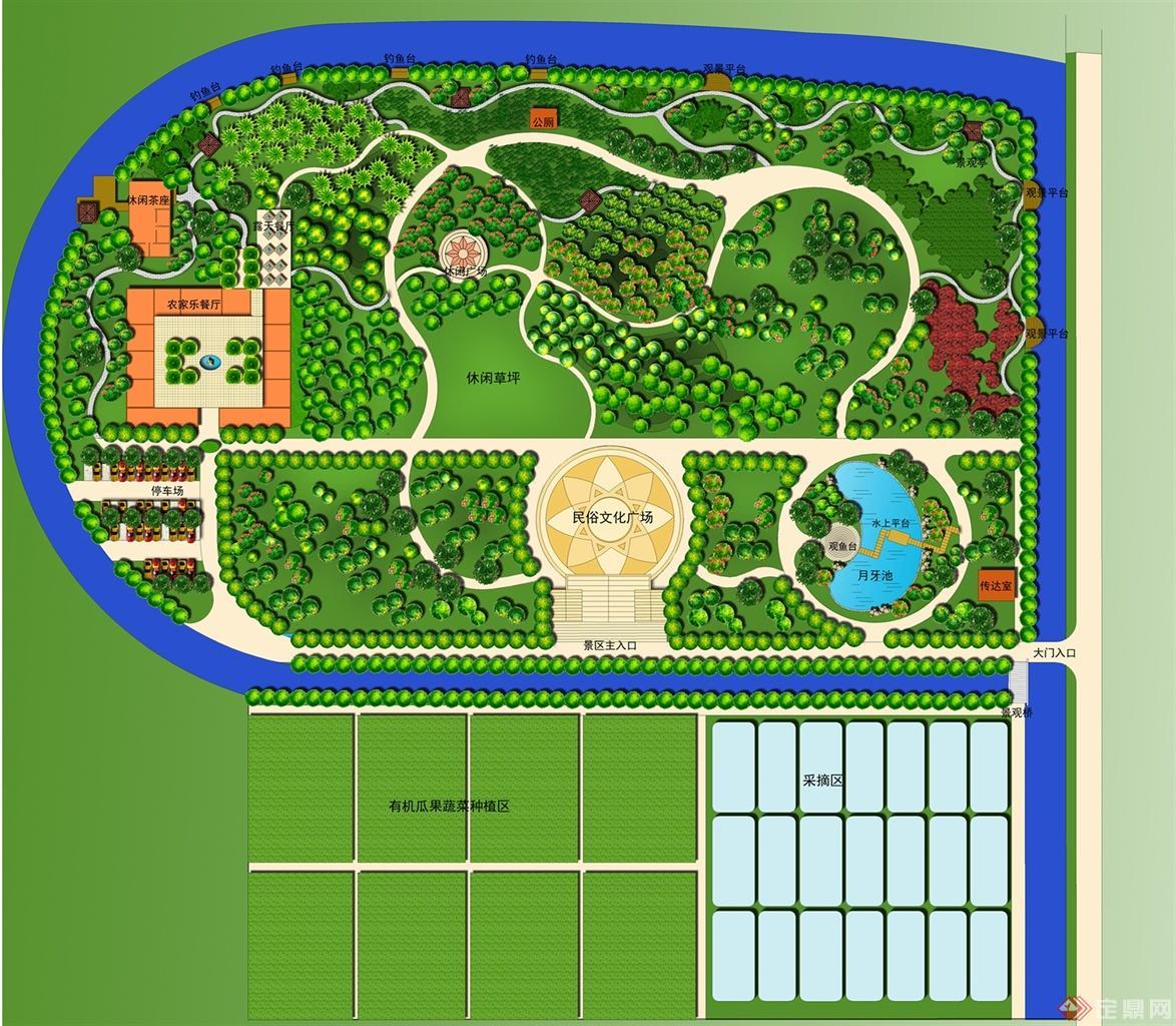 安徽省某现代农业观光园规划设计方案