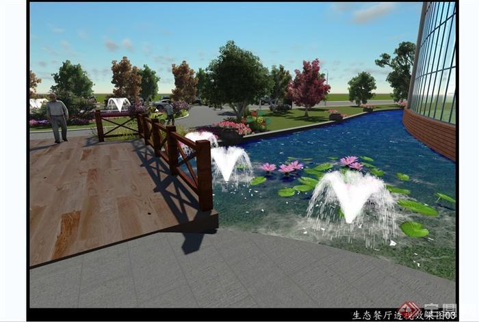 某入口荷花池景观设计jpg效果图