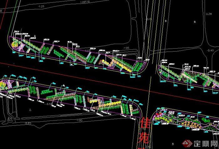 市政道路标准段景观设计CAD方案