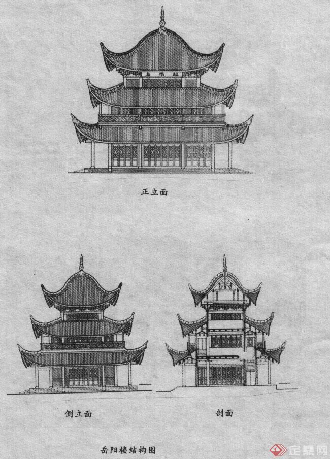 私家别墅花园设计图_岳阳楼