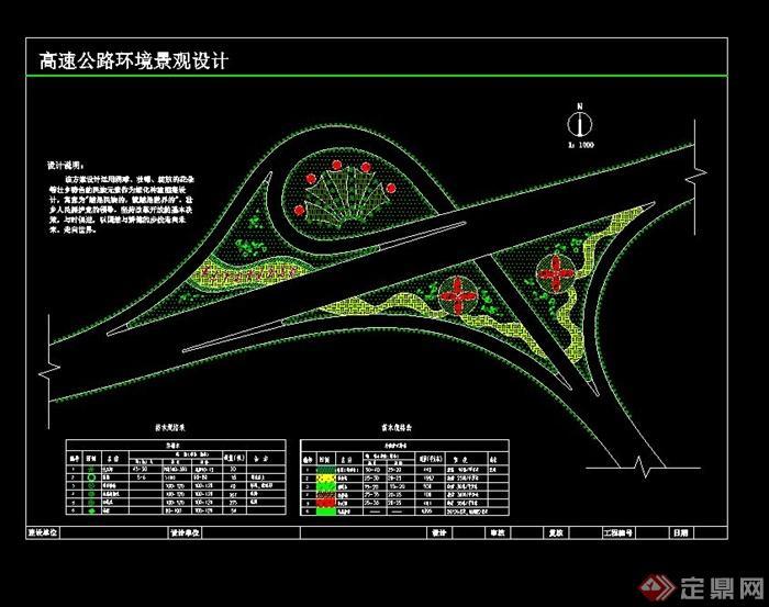 某高速公路环境景观设计cad方案图[原创]