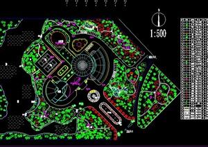 小型公园绿化设计平面图