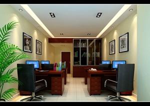 现代中式科技公司大楼室内设计施工图(带效果图)