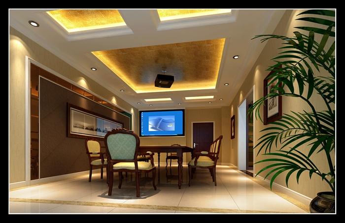 现代中式科技公司大楼室内设计施工图(带效果图)[原创