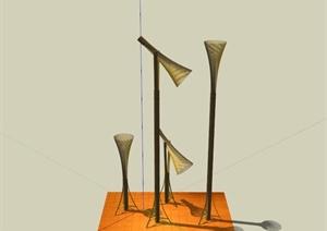 现代户外装饰灯具组合SU(草图大师)模型