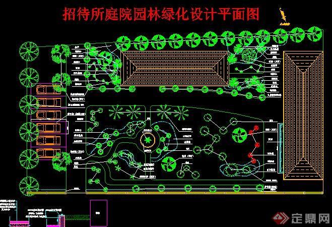 某招待所园林庭院景观设计CAD平面图