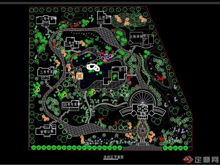 某休闲区公园园林规划cad平面图[原创]