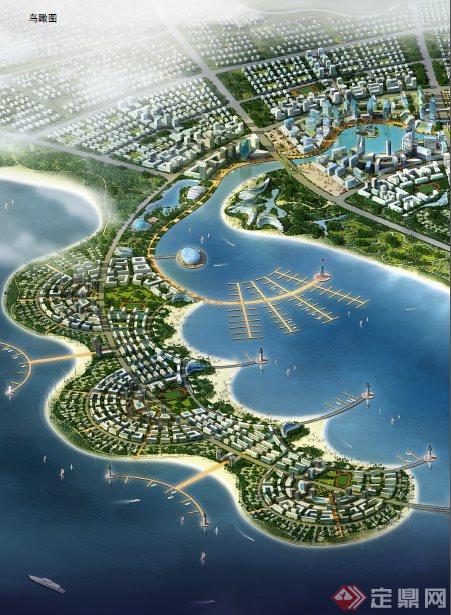 某半岛城市经济开发区总体总体城市设计及核心区详细设计[原创]