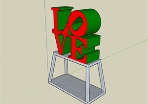 现代简约雕塑小品设计SU(草图大师)模型