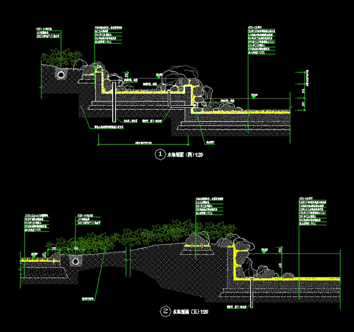某欧式详图水池v详图CAD石材[原创]cad2007锁定轴xy图片