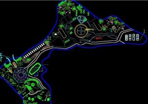 某公园绿化设计平面图