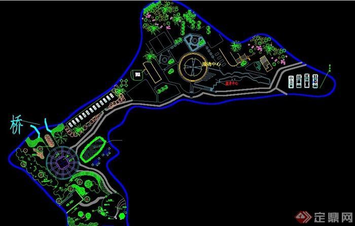 某公园绿化设计平面图[原创]