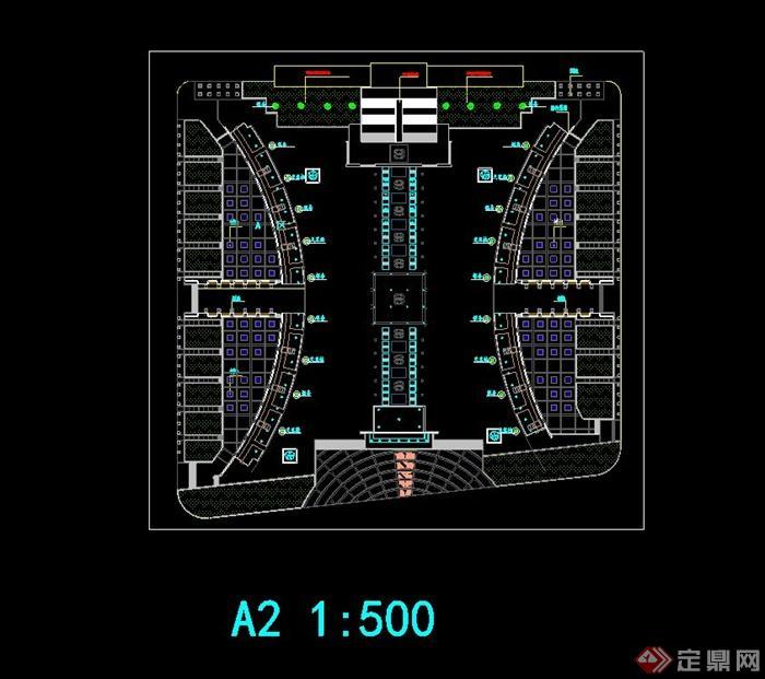 某政府广场绿化规划设计cad方案图[原创]
