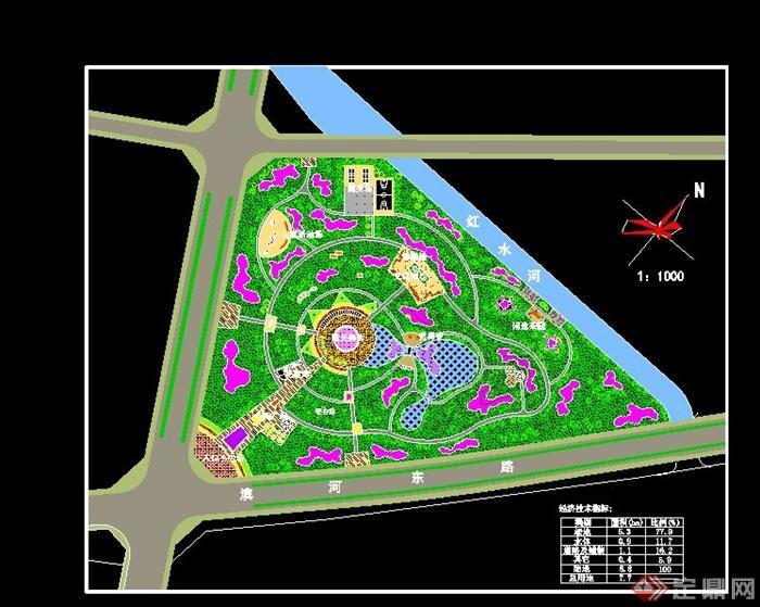 某休闲中心绿地总体规划设计cad方案图[原创]图片