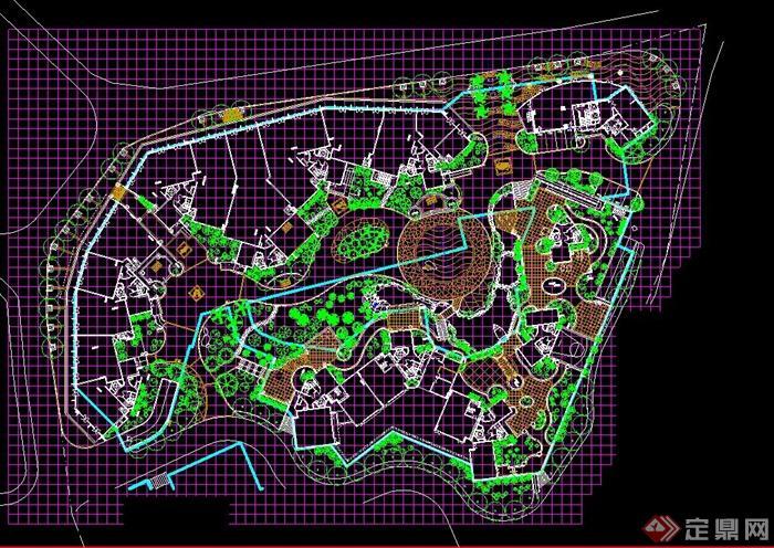 某公园规划乔木种植设计cad方案图[原创]