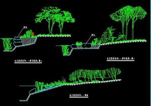 三款生态驳岸施工图