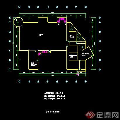 某二层会所建筑平面图