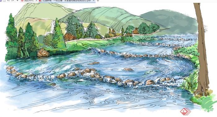 某市水系景观概念性规划设计pdf文本,该方案按文本绘制详细包含了高清的效果图以及详细的剖面图设计。可直接下载用于相关设计使用,具有和爱好的使用价值,欢迎下载。