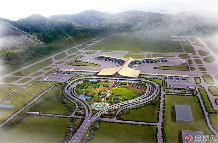 项目总投资230亿元,规划目标近期年飞机起降30.3万架次,旅客吞吐量3800万人次,货邮吞吐量95万吨;远期目标年飞机起降45.6万架次,旅客吞吐量6000万人次,货邮吞吐量230万吨。机场候机楼建筑面积54.83万平方米,站坪停机位110个。机场飞行区建设两条垂直间距为1950米的平行远距离跑道,其中东跑道长4500米、西跑道长4000米。 一期建有T1航站楼和两条平行跑道。T1航站楼位于两条平行跑道之间的航站区用地南端,主要由前端主楼、前端东西两侧指廊、中央指廊、远端东西Y型指廊组成。南北总长度为8