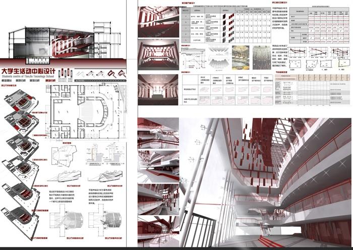 某大学生活动中心建筑设计jpg排版方案[原创]