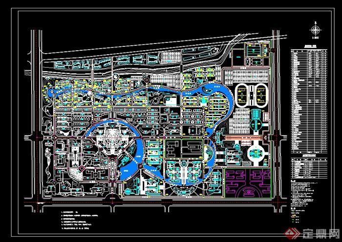 某理工大学学校规划设计cad总平面图(1)
