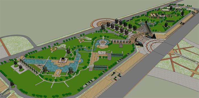 小区景观规划设计SU模型