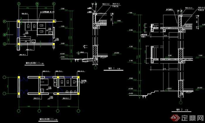 现代风格幼儿园建筑设计cad施工图[原创]