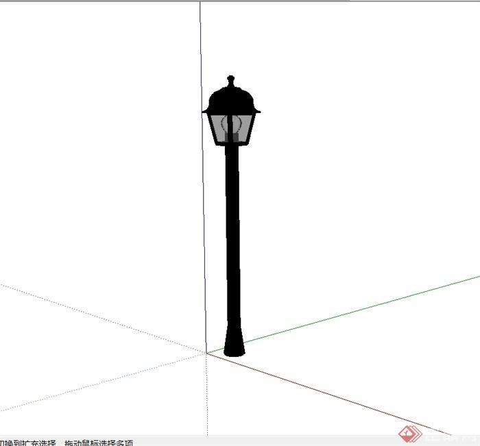 某欧式风格详细路灯柱设计su模型(1)